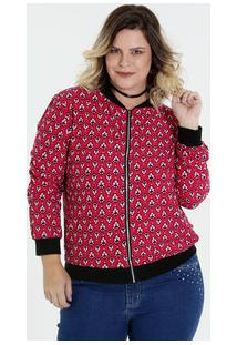 ... Jaqueta Feminina Plus Size Bomber Estampa Floral Marisa c5a7660ab6c7f