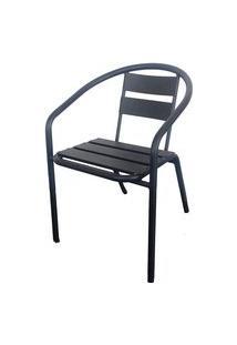 Cadeira Fun Em Aluminio Cor Chumbo - 44357 Preto