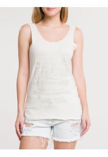 Blusa Ckj Fem Foil Sleeveless - Off White Blusa Ckj Fem Foil Sleeveless - Off White - Pp