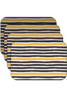 Jogo Americano Love Decor Abstrato Stripes Kit Com 6 Peças