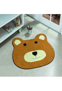 Tapete Dourados Enxovais Formato Big Urso Caramelo