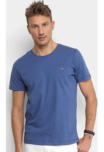 Camiseta Coca-Cola Básica Logo Masculina - Masculino-Azul