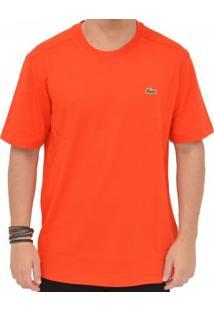 Camiseta Lacoste Casual Cad Laranja