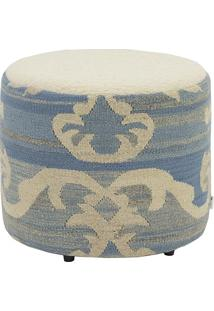 Puff 45 Kilim Ikat Lashmi Light Blue 1 - 40X45X45