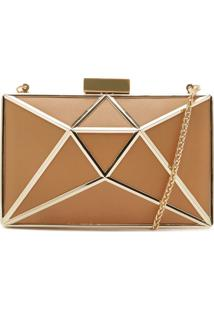 Clutch Cristal Leather Honey | Schutz