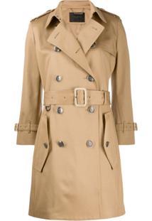 Givenchy Trench Coat Com Cinto - Neutro
