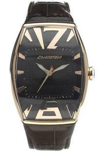 Relógio De Pulso Chronotech High Fashion - Aço Dourado - Feminino-Prata+Marrom