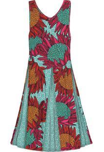 Vestido Amplo Estampado Protea Color - Lez A Lez