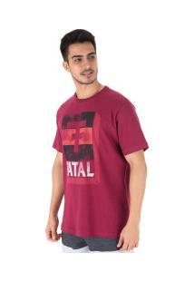 Camiseta Fatal Estampada 22100 - Masculina - Vinho