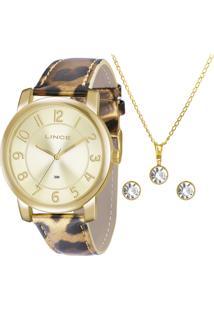 Kit Relógio Feminino Lince Lrc4336L K160C2Mp