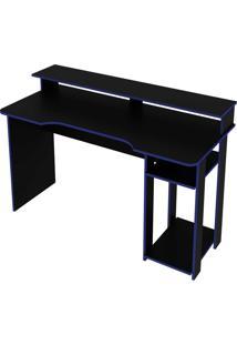 Mesa Gamer Preto/Azul Tecno Mobili - Preto - Dafiti