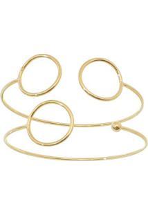 Conjunto De Braceletes Folheado A Ouro - Dourado - 2Carolina Alcaide