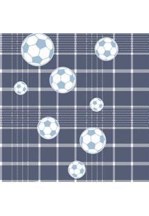 Papel De Parede Coleção Bim Bum Bam Azul Branco Futebol 2249 Cristiana Masy
