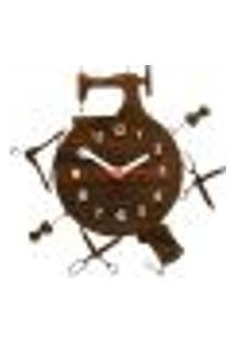 Relógio De Parede Decorativo - Modelo Mundo Da Costureira