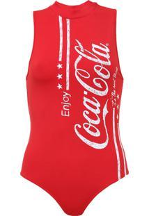 Body Coca-Cola Jeans Aroma Vermelho - Kanui