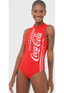 Body Coca-Cola Jeans Lettering Vermelha - Kanui