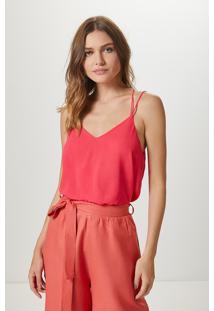 Blusa Alça Dupla Basic-Geo Pink - Pp