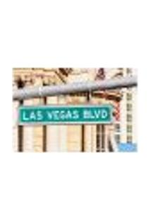Painel Adesivo De Parede - Placa - Las Vegas - 1673Pnp