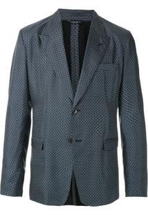 Dolce & Gabbana Blazer De Seda Estampado - Azul