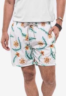 Short Hermoso Compadre White Tropical - Masculino-Branco