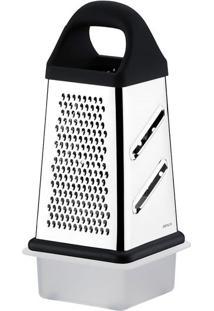 Ralador 4 Faces Com Coletor Preto 22X10,5Cm Brinox