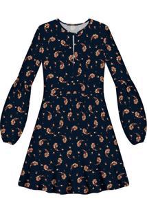 Vestido Manga Longa Estampa Tecido Primrose - Lez A Lez