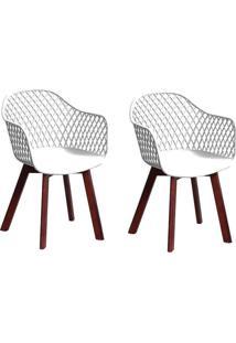 Conjunto Com 2 Cadeiras Siberian Tulipa Branco
