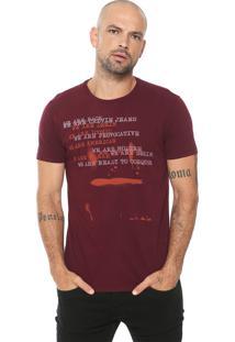 Camiseta Calvin Klein Jeans We Are Provocative Bordô