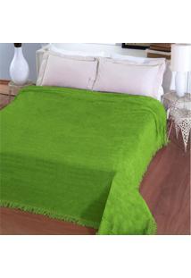 Colcha Casal Chenille Jolitex Verde
