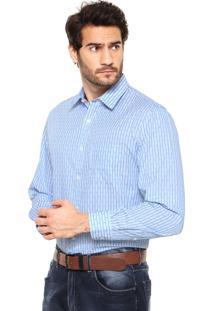 Camisa Perry Ellis Listras Azul