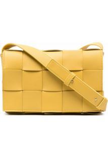 Bottega Veneta Bolsa Transversal Cassette - Amarelo