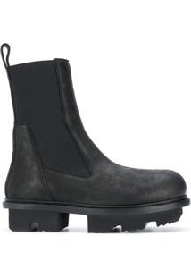 Rick Owens Ankle Boot Com Solado Chunky - Preto