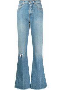 Golden Goose Calça Jeans Flare Com Efeito Destroyed - Azul