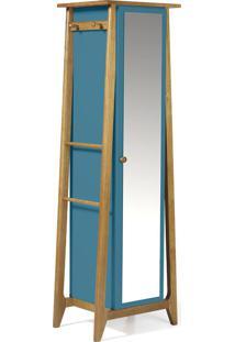 Armário Multiuso 1 Porta Stoka 981 Nogal/Azul - Maxima