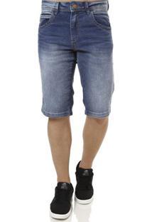 Bermuda Jeans Masculina Zune Azul