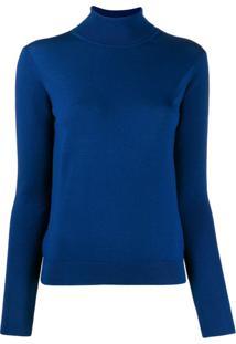 Paul Smith Suéter Gola Alta De Tricô - Azul