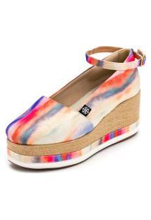 Sapato Anabela Gisela Costa Casual Multicolorido