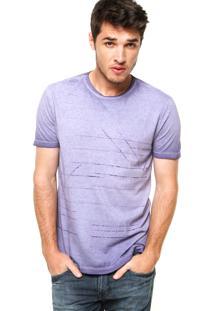 Camiseta Manga Curta Calvin Klein Jeans Jateada Roxa