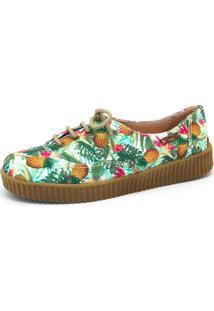 Tênis Creeper Quality Shoes Feminino 005 Abacaxi Verde 35