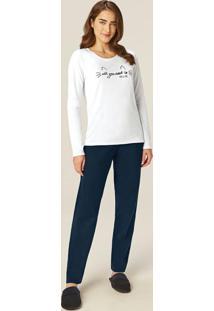 Pijama Branco All You Need Malha