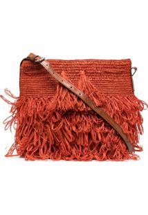 Ibeliv Tasseled Woven Shoulder Bag - Laranja
