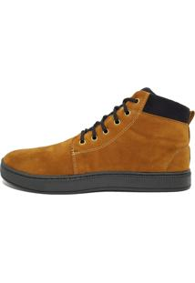 Tênis Masculino Mid Casual 3Ls3 Amarelo