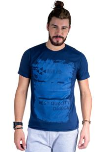 Camiseta Mister Fish Estampado Best Quality Marinho