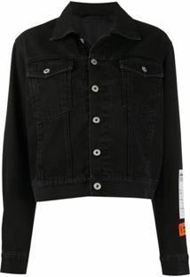 Heron Preston Logo Patch Buttoned Jacket - Preto