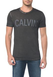 Camiseta Ckj Mc Estampa Calvin Peito - Pp