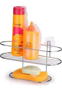 Porta Shampoo Cantoneira Com Ventosas Arthi