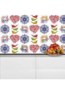 Adesivo Azulejos Pimentas Mexicanas (15X15Cm)