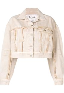 Acne Studios Jaqueta Jeans Cropped - Marrom