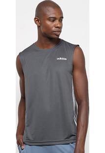 Camiseta Regata Adidas Design 2 Move 3 Stripes Masculina - Masculino