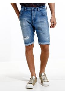Bermuda John John Clássica Russia Jeans Azul Masculina (Jeans Medio, 48)
